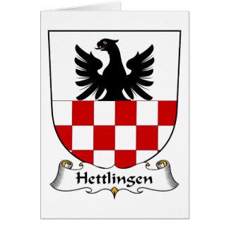 Escudo de la familia de Hettlingen Tarjeta De Felicitación