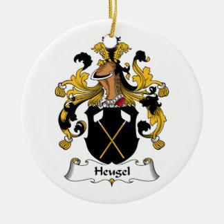 Escudo de la familia de Heugel Adorno Navideño Redondo De Cerámica