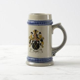 Escudo de la familia de Heugel Jarra De Cerveza
