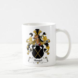Escudo de la familia de Heugel Taza Básica Blanca