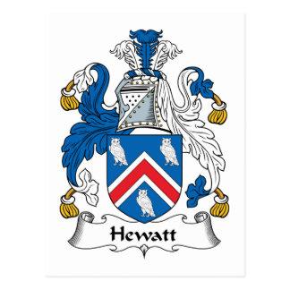Escudo de la familia de Hewatt Postales