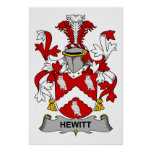 Escudo de la familia de Hewitt Impresiones