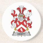 Escudo de la familia de Hewitt Posavasos Cerveza
