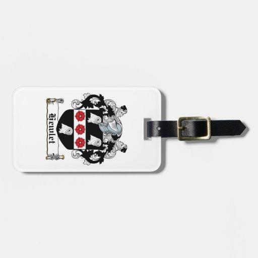 Escudo de la familia de Hewlet Etiquetas Para Equipaje