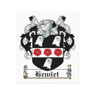 Escudo de la familia de Hewlet Lienzo Envuelto Para Galerías