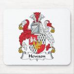 Escudo de la familia de Hewson Tapete De Ratones