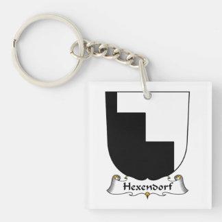 Escudo de la familia de Hexendorf Llavero Cuadrado Acrílico A Una Cara