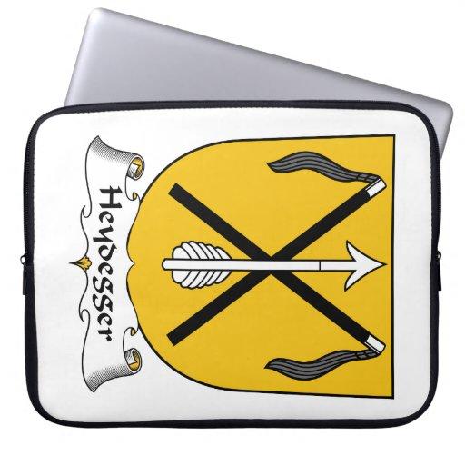 Escudo de la familia de Heydegger Fundas Portátiles