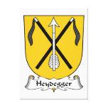 Escudo de la familia de Heydegger Lienzo Envuelto Para Galerias