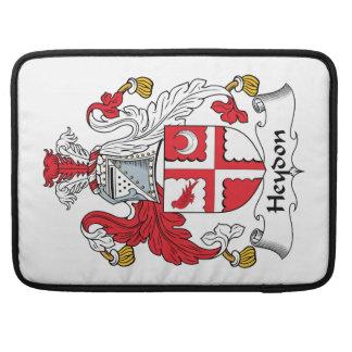 Escudo de la familia de Heydon Fundas Para Macbooks