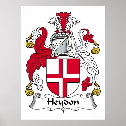 Escudo de la familia de Heydon Póster