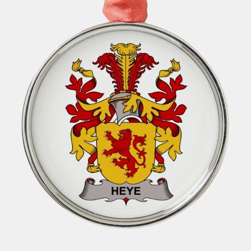 Escudo de la familia de Heye Adorno Navideño Redondo De Metal