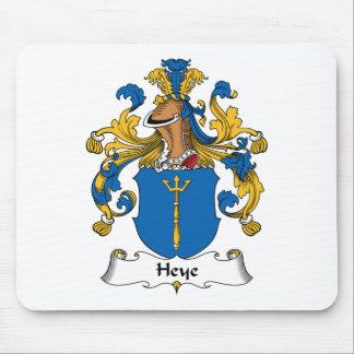 Escudo de la familia de Heye Alfombrillas De Raton