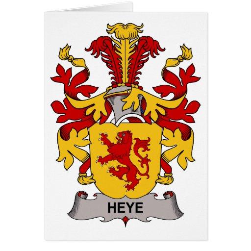 Escudo de la familia de Heye Tarjetón