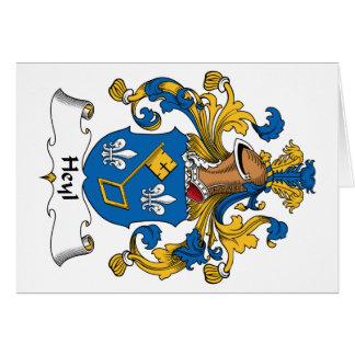 Escudo de la familia de Heyl Tarjeta De Felicitación