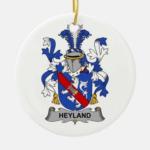Escudo de la familia de Heyland Adorno Navideño Redondo De Cerámica