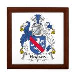Escudo de la familia de Heyland Caja De Recuerdo