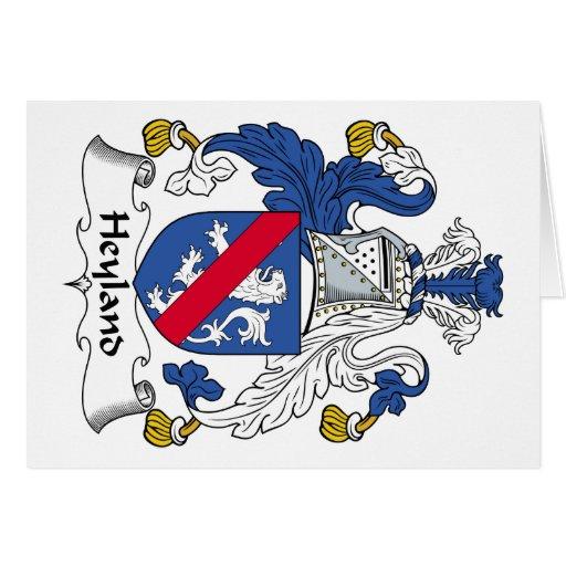 Escudo de la familia de Heyland Tarjeta