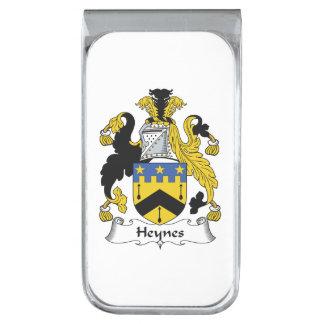 Escudo de la familia de Heynes Clip Para Billetes Plateado