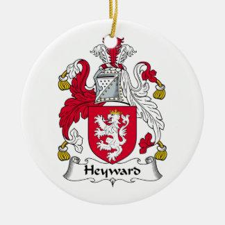 Escudo de la familia de Heyward Ornamentos De Navidad