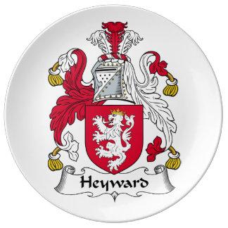 Escudo de la familia de Heyward Platos De Cerámica