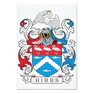 """Escudo de la familia de Hibbs Invitación 3.5"""" X 5"""""""