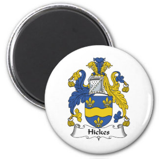 Escudo de la familia de Hickes Imán Redondo 5 Cm