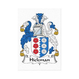 Escudo de la familia de Hickman Impresiones En Lienzo Estiradas