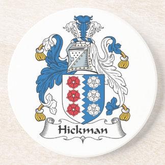Escudo de la familia de Hickman Posavasos Cerveza