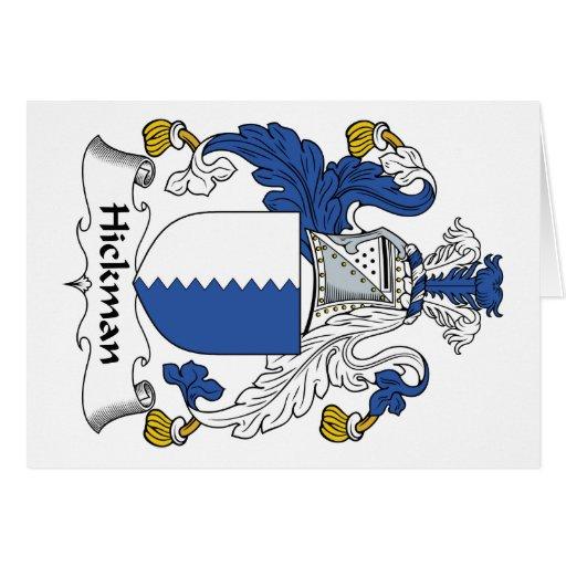 Escudo de la familia de Hickman Tarjeta De Felicitación