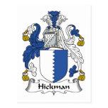 Escudo de la familia de Hickman Tarjetas Postales