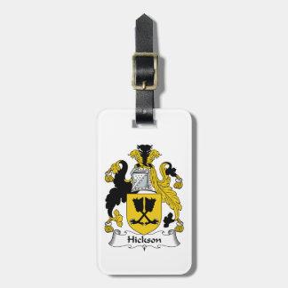 Escudo de la familia de Hickson Etiquetas Para Maletas