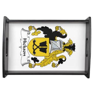 Escudo de la familia de Hickson Bandeja