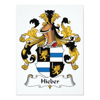 """Escudo de la familia de Hieber Invitación 6.5"""" X 8.75"""""""
