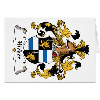Escudo de la familia de Hieber Tarjeta De Felicitación