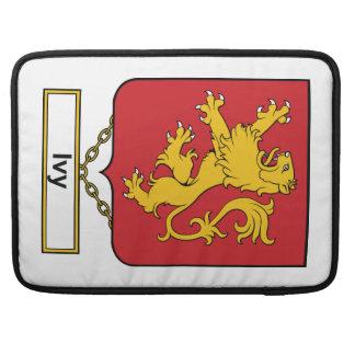 Escudo de la familia de hiedra funda para macbook pro