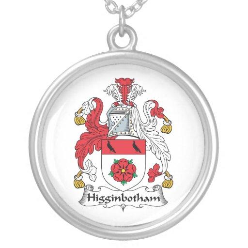 Escudo de la familia de Higginbotham Pendientes Personalizados