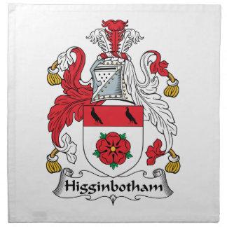 Escudo de la familia de Higginbotham Servilleta De Papel