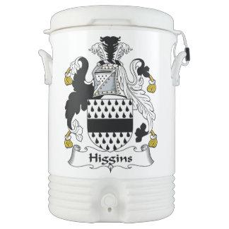 Escudo de la familia de Higgins Enfriador De Bebida Igloo