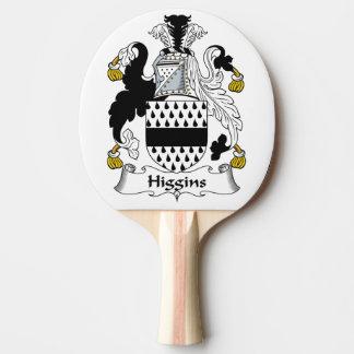 Escudo de la familia de Higgins Pala De Tenis De Mesa