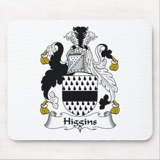 Escudo de la familia de Higgins Tapetes De Ratones