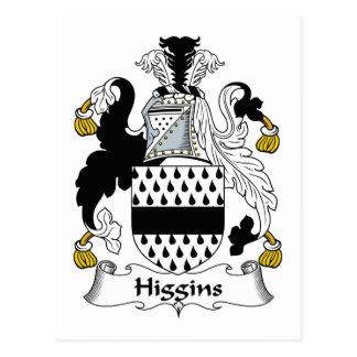 Escudo de la familia de Higgins Postal