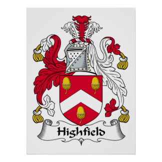 Escudo de la familia de Highfield Impresiones