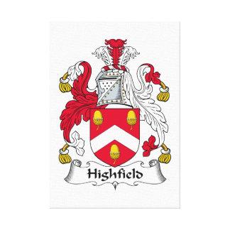 Escudo de la familia de Highfield Impresiones En Lona