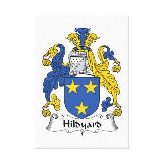 Escudo de la familia de Hildyard Lienzo Envuelto Para Galerías