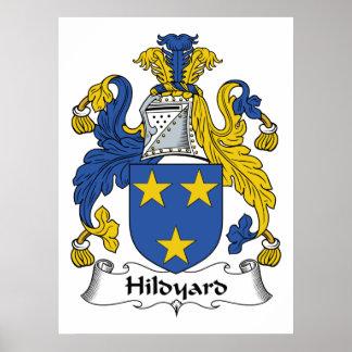 Escudo de la familia de Hildyard Póster