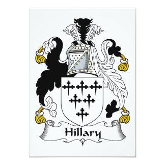 """Escudo de la familia de Hillary Invitación 5"""" X 7"""""""