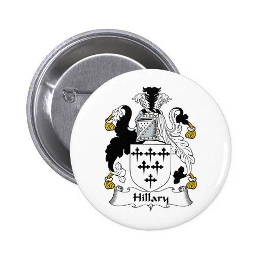 Escudo de la familia de Hillary Pins