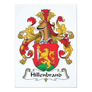 """Escudo de la familia de Hillenbrand Invitación 6.5"""" X 8.75"""""""