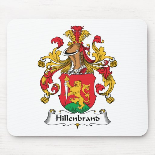 Escudo de la familia de Hillenbrand Alfombrillas De Ratones